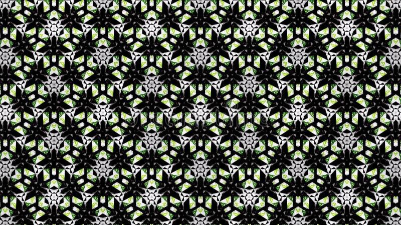 Αφηρημένη πράσινη άσπρη μαύρη ταπετσαρία χρώματος στοκ φωτογραφία με δικαίωμα ελεύθερης χρήσης