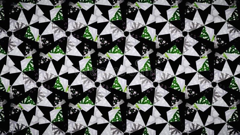 Αφηρημένη πράσινη άσπρη μαύρη ταπετσαρία χρώματος στοκ φωτογραφίες