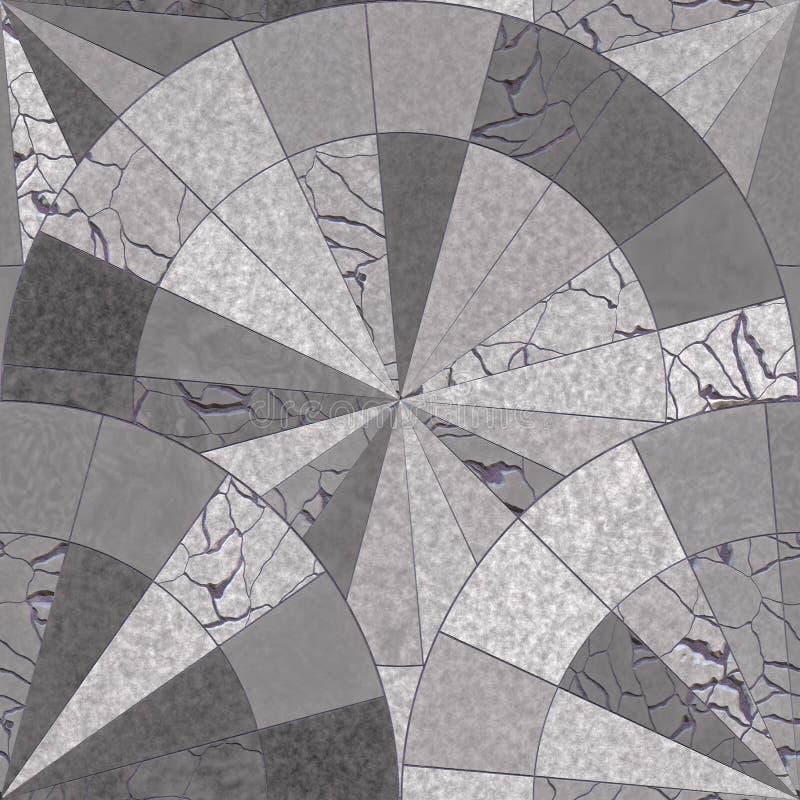 Αφηρημένος κεραμικός τοίχος αρχιτεκτονικής μωσαϊκών απεικόνιση αποθεμάτων