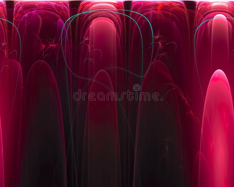 Αφηρημένος διακοσμητικός μαλακός μελλοντικός fractal δημιουργικός φουτουριστικός επιστήμης, απεικόνιση αποθεμάτων