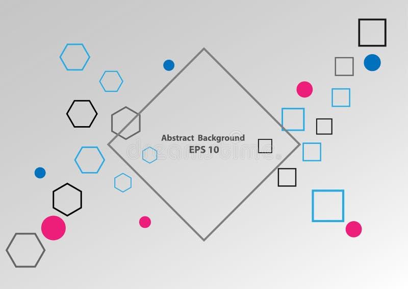 Αφηρημένος φουτουριστικός γραφικός hipster υποβάθρου σύγχρονος Διανυσματικό σχέδιο απεικόνισης ελεύθερη απεικόνιση δικαιώματος