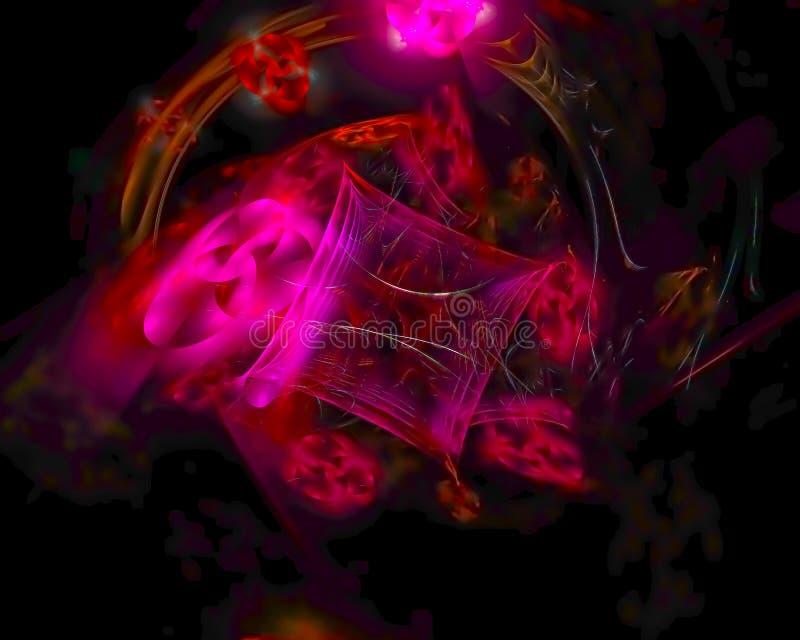 Αφηρημένος fractal επίδρασης σκηνικού διακοσμητικός μελλοντικός δημιουργικός φουτουριστικός επιστήμης, διανυσματική απεικόνιση