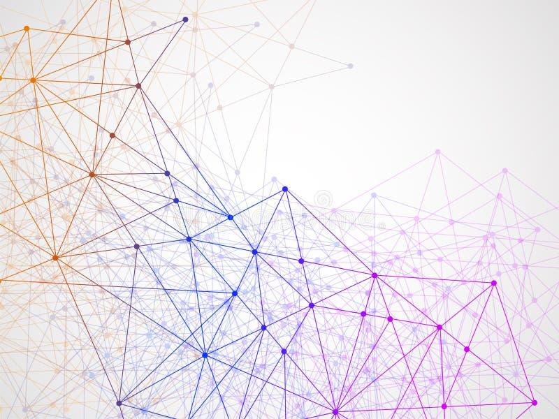 Αφηρημένο γεωμετρικό υπόβαθρο με τη σύνδεση των σημείων και των γραμμών Σύγχρονη έννοια τεχνολογίας ελεύθερη απεικόνιση δικαιώματος