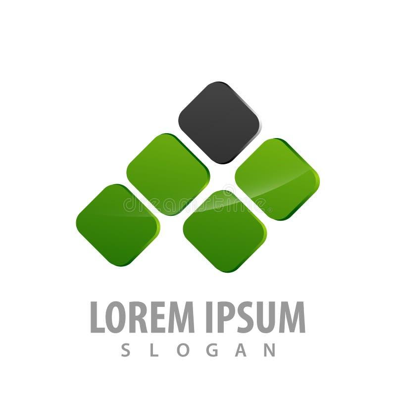 αφηρημένο μαύρο πράσινο τετραγωνικό σχέδιο έννοιας λογότυπων τεχνολογίας Γραφικό διάνυσμα στοιχείων προτύπων συμβόλων ελεύθερη απεικόνιση δικαιώματος