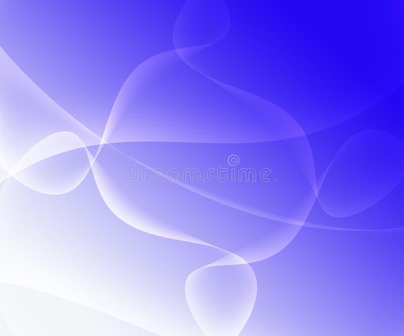 Αφηρημένο μπλε άσπρο λουλάκι υποβάθρου κλίσης διανυσματική απεικόνιση