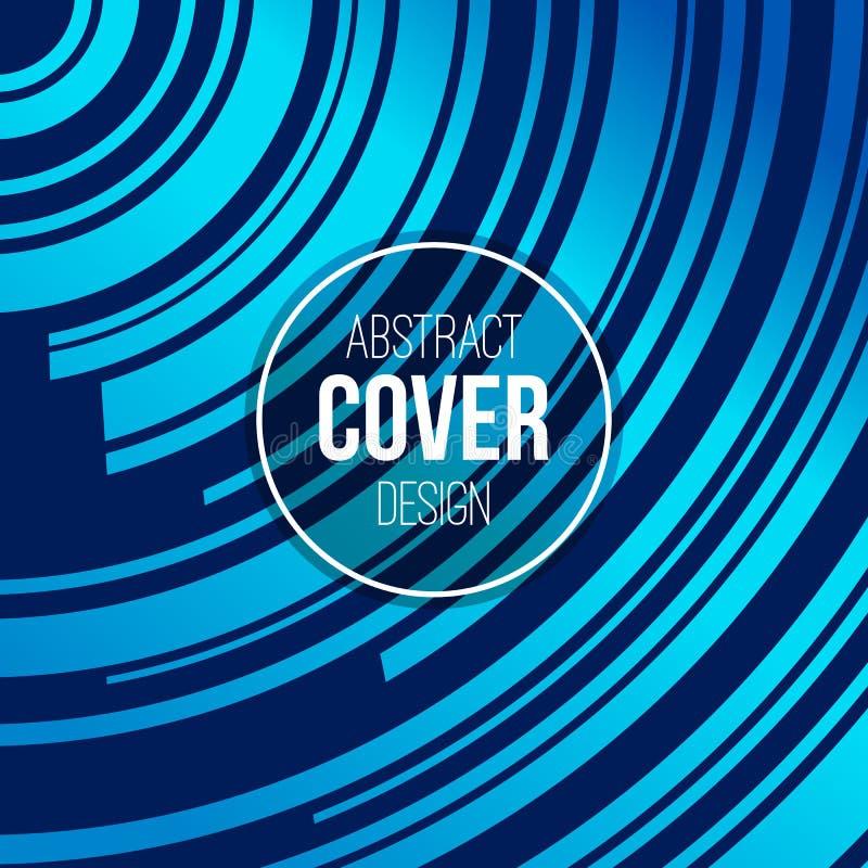 Αφηρημένο δημιουργικό πρότυπο σχεδιαγράμματος έννοιας Λωρίδες, κύματα στα μπλε, τυρκουάζ χρώματα Διανυσματική ανασκόπηση ελεύθερη απεικόνιση δικαιώματος