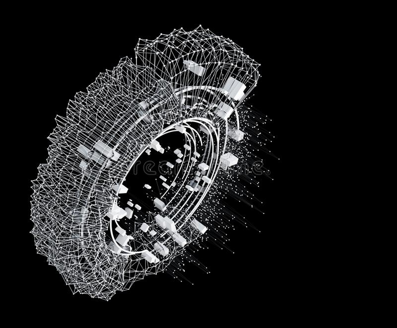 Αφηρημένο στοιχείο αρχιτεκτονικής ή HUD σχεδίου έννοιας ή διαστημικός σταθμός απεικόνιση αποθεμάτων