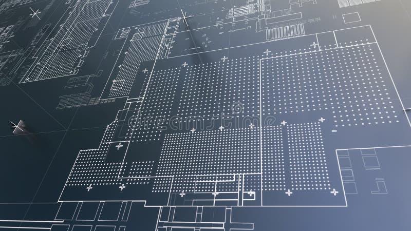 Αφηρημένο τεχνολογικό υπόβαθρο με τις άσπρες γραμμές απεικόνιση αποθεμάτων