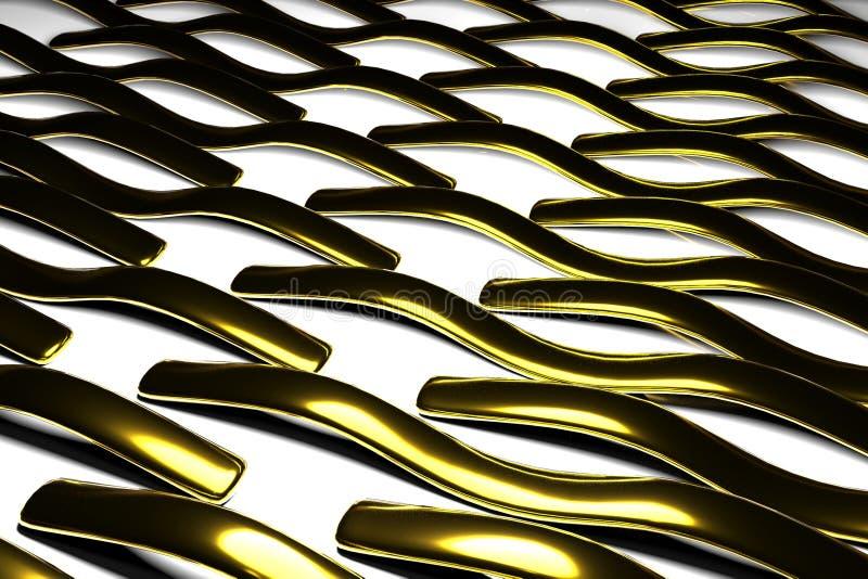 Αφηρημένο τρισδιάστατο πρότυπο σύμβολο μορφών υποβάθρου χρυσό στοκ φωτογραφία με δικαίωμα ελεύθερης χρήσης