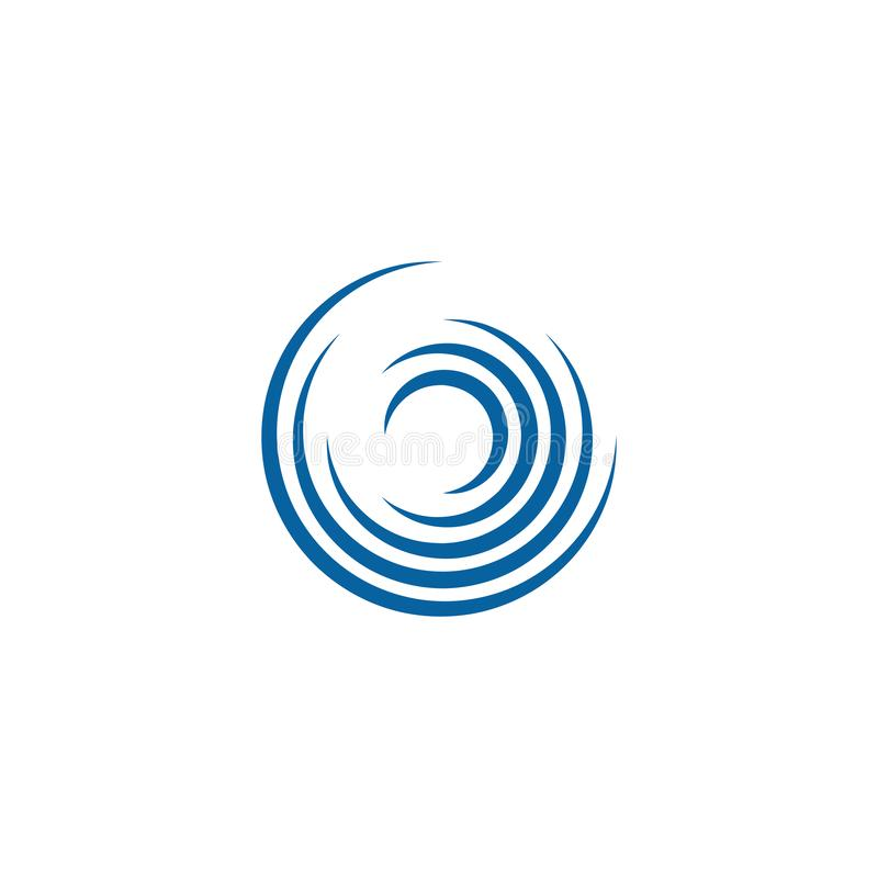 Αφηρημένο πρότυπο λογότυπων περιστροφών Swoosh περιστρεφόμενο διανυσματική απεικόνιση