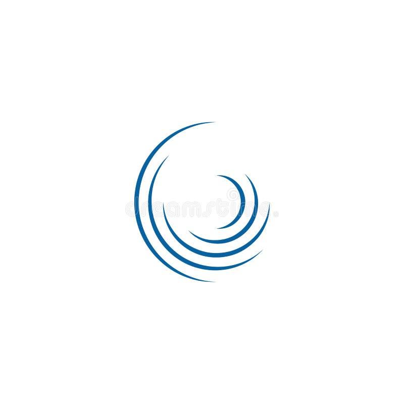 Αφηρημένο πρότυπο λογότυπων περιστροφών Swoosh περιστρεφόμενο απεικόνιση αποθεμάτων