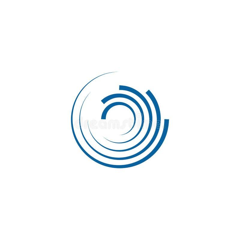 Αφηρημένο πρότυπο λογότυπων περιστροφών Swoosh περιστρεφόμενο ελεύθερη απεικόνιση δικαιώματος