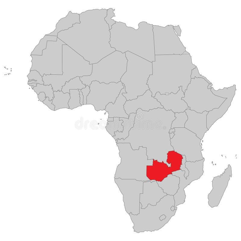 Αφρική - πολιτικός χάρτης της Αφρικής απεικόνιση αποθεμάτων
