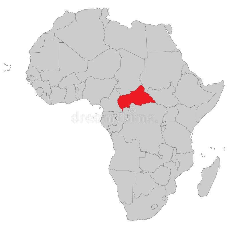 Αφρική - πολιτικός χάρτης της Αφρικής διανυσματική απεικόνιση