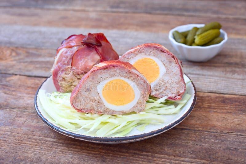 αυγά σκωτσέζικα στοκ φωτογραφία