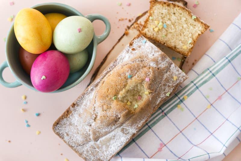 αυγά, Πάσχα, αυγά Πάσχας, κέικ Πάσχας στοκ εικόνες