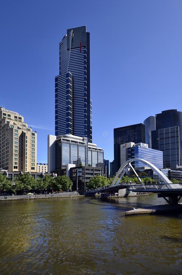 Αυστραλία, Βικτώρια, Μελβούρνη, περιοχή Southbank στον ποταμό Yarra στοκ εικόνες με δικαίωμα ελεύθερης χρήσης