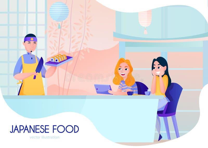 απεικόνιση κινούμενων σχεδίων μαγείρων ελεύθερη απεικόνιση δικαιώματος