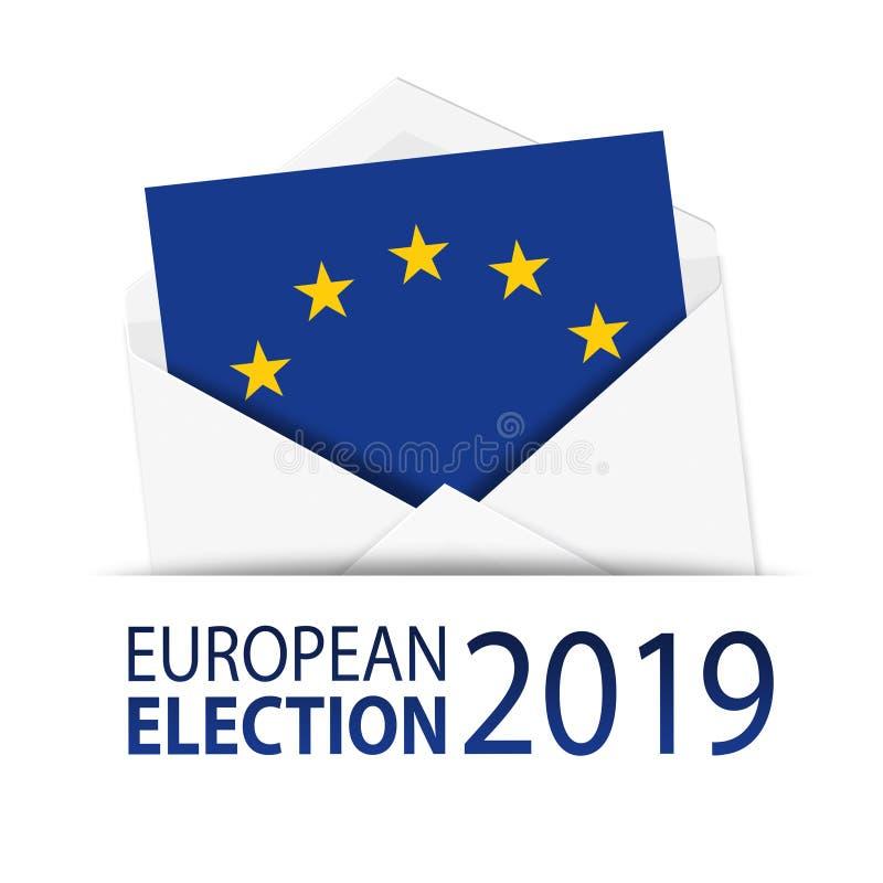 Απεικόνιση με την ευρωπαϊκή εκλογή 2019 ελεύθερη απεικόνιση δικαιώματος