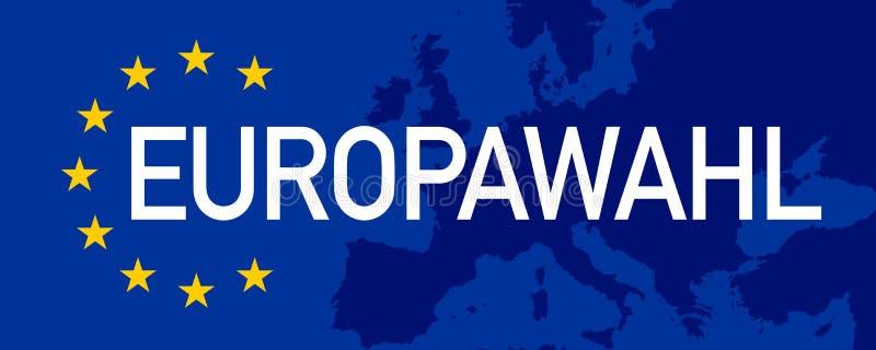 Απεικόνιση με την ευρωπαϊκή εκλογή 2019 διανυσματική απεικόνιση