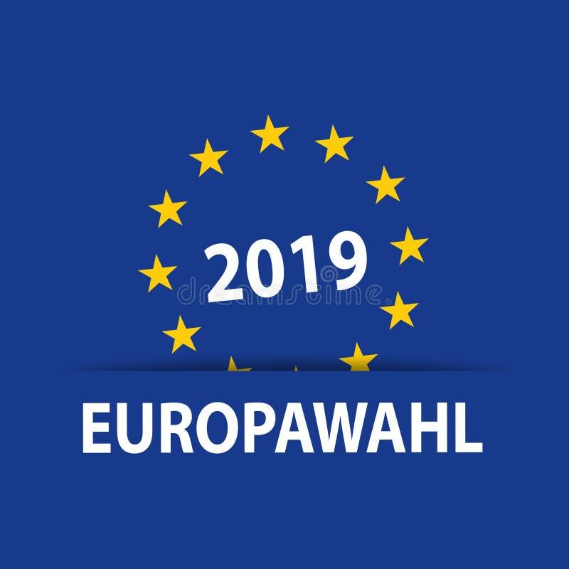 Απεικόνιση με την ευρωπαϊκή εκλογή 2019 απεικόνιση αποθεμάτων