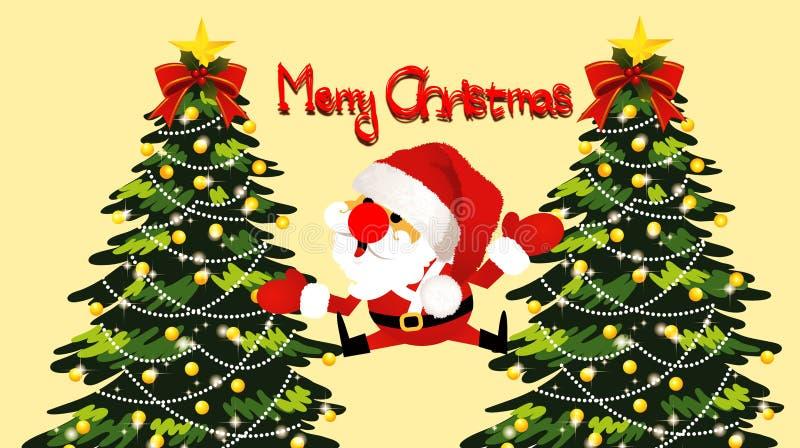 απεικόνιση της ταπετσαρίας ευχετήριων καρτών Χαρούμενα Χριστούγεννας χαρακτήρας κινουμένων σχ&eps ελεύθερη απεικόνιση δικαιώματος