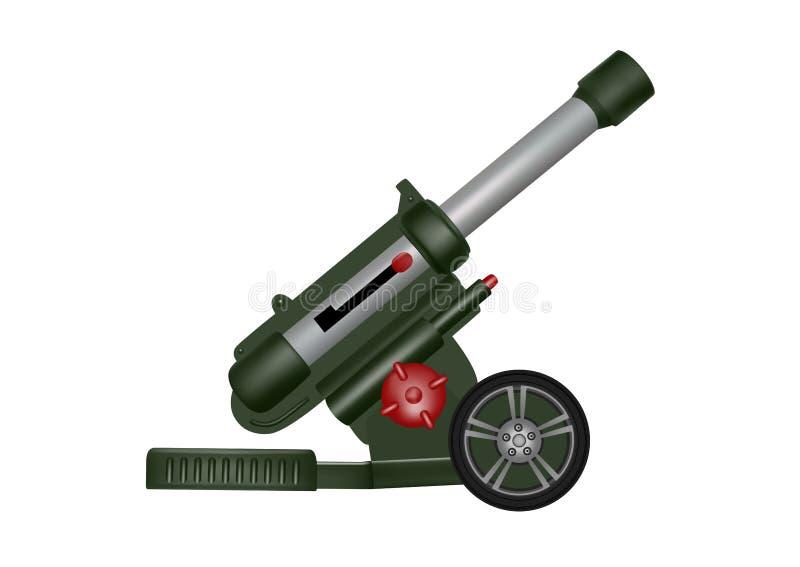 Απεικόνιση πυροβόλων όπλων πυροβολικού Πλαστικό πυροβόλο όπλο πυροβολικού παιχνιδιών απεικόνιση αποθεμάτων