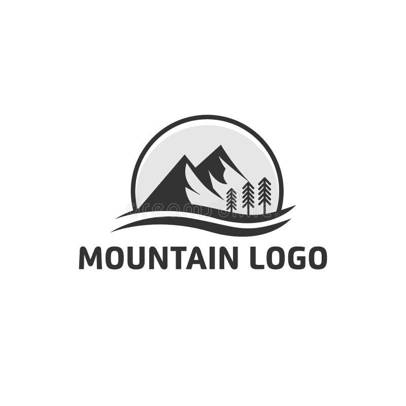 Απλά σχέδια λογότυπων βουνών ελεύθερη απεικόνιση δικαιώματος