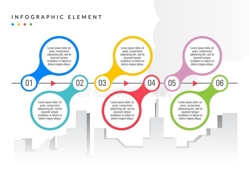 Απλό επίπεδο χρώμα στοιχείων Infographic απεικόνιση αποθεμάτων