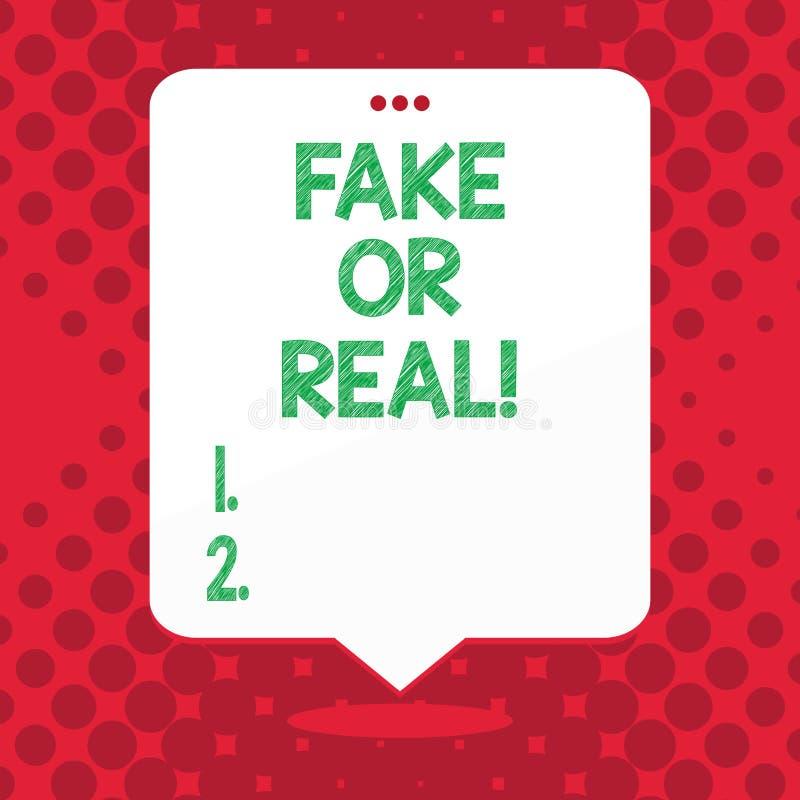 Απομίμηση κειμένων γραφής ή πραγματικός Έννοια που σημαίνει τον έλεγχο εάν τα προϊόντα είναι αρχικά ή μην ελέγχοντας την ποιότητα διανυσματική απεικόνιση