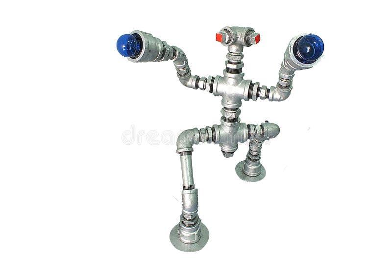 Απομονώστε το ρομπότ σιδήρου στοκ εικόνες με δικαίωμα ελεύθερης χρήσης
