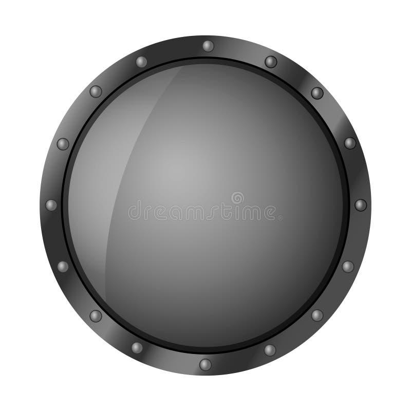 Απομονωμένος γύρω από την ασπίδα στο άσπρο υπόβαθρο Διανυσματική απεικόνιση μιας ασπίδας διανυσματική απεικόνιση