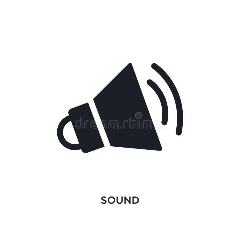 απομονωμένο ήχος εικονίδιο απλή απεικόνιση στοιχείων από τα εικονίδια έννοιας επιστήμης υγιές editable σχέδιο συμβόλων σημαδιών λ απεικόνιση αποθεμάτων
