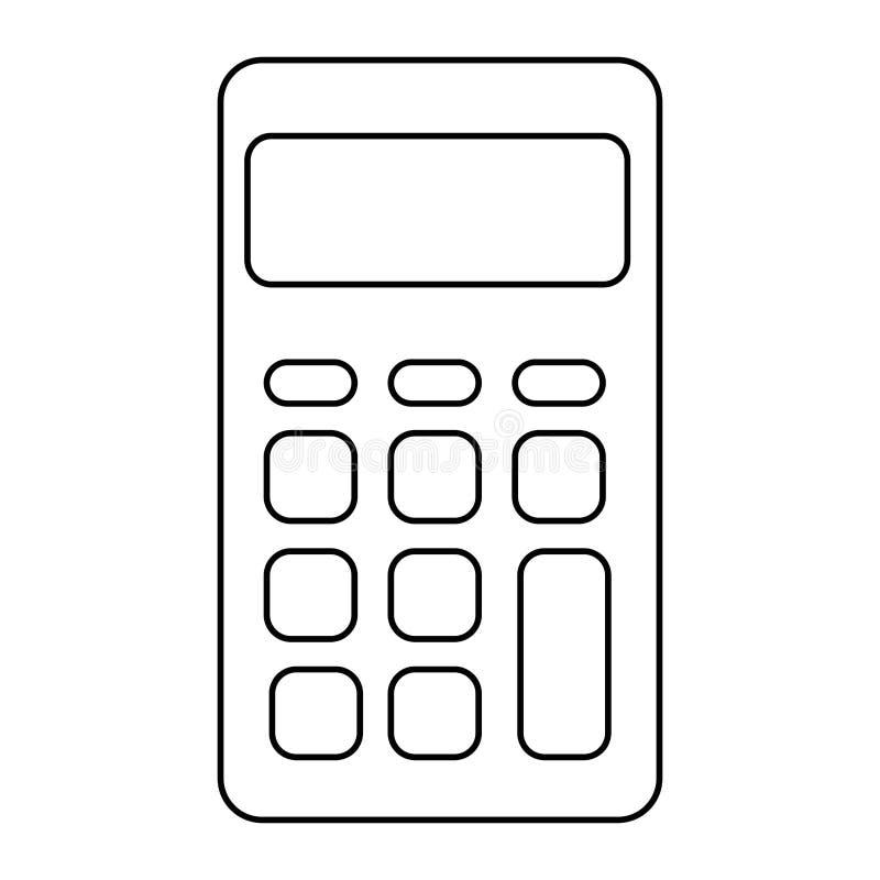Απομονωμένο εικονίδιο υπολογιστών math απεικόνιση αποθεμάτων