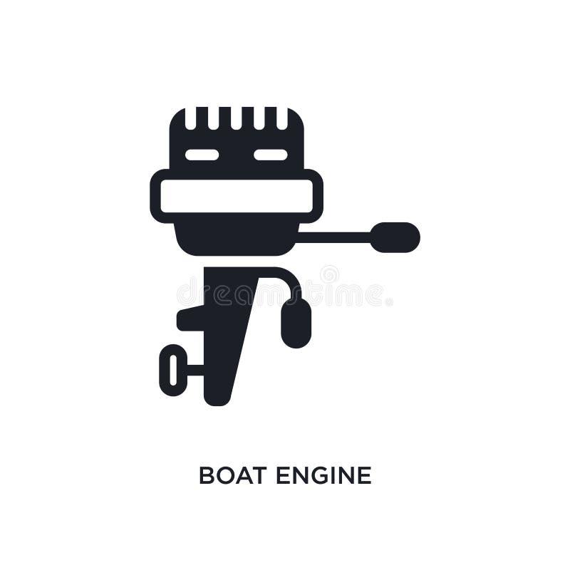 απομονωμένο μηχανή εικονίδιο βαρκών απλή απεικόνιση στοιχείων από τα ναυτικά εικονίδια έννοιας editable σχέδιο συμβόλων σημαδιών  διανυσματική απεικόνιση