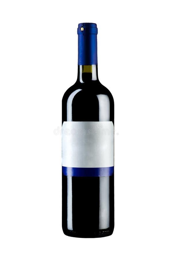 απομονωμένο μπουκάλι κρασί στοκ εικόνες