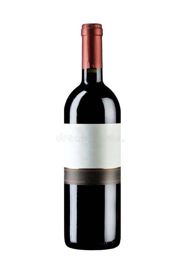 απομονωμένο μπουκάλι κρασί στοκ εικόνα με δικαίωμα ελεύθερης χρήσης