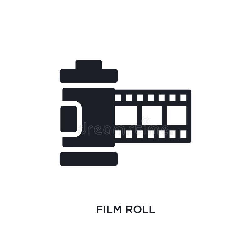 απομονωμένο ρόλος εικονίδιο ταινιών η απλή απεικόνιση στοιχείων από την ηλεκτρονική ουσία γεμίζει τα εικονίδια έννοιας editable σ ελεύθερη απεικόνιση δικαιώματος