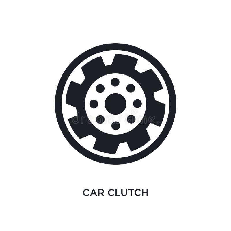 απομονωμένο συμπλέκτης εικονίδιο αυτοκινήτων απλή απεικόνιση στοιχείων από τα εικονίδια έννοιας μερών αυτοκινήτων editable σχέδιο ελεύθερη απεικόνιση δικαιώματος