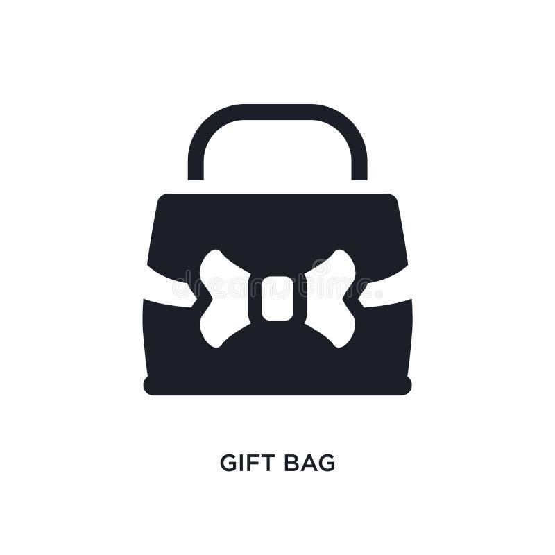απομονωμένο τσάντα εικονίδιο δώρων απλή απεικόνιση στοιχείων από τα εικονίδια έννοιας πολυτέλειας editable σχέδιο συμβόλων σημαδι διανυσματική απεικόνιση