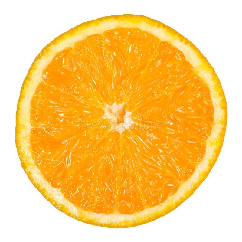 Απομονωμένο φρέσκο πορτοκάλι με ένα άσπρο υπόβαθρο στοκ φωτογραφία