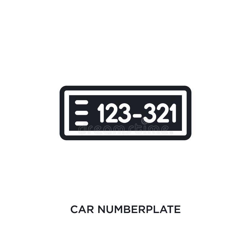 απομονωμένο πινακίδα κυκλοφορίας εικονίδιο αυτοκινήτων απλή απεικόνιση στοιχείων από τα εικονίδια έννοιας μερών αυτοκινήτων edita διανυσματική απεικόνιση
