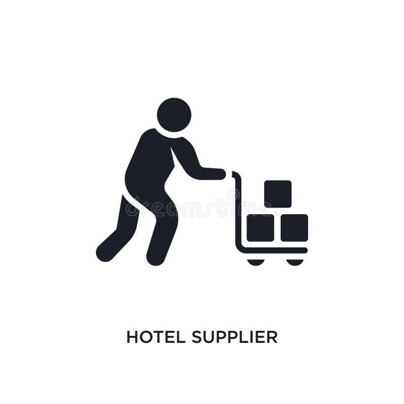 απομονωμένο προμηθευτής εικονίδιο ξενοδοχείων απλή απεικόνιση στοιχείων από τα εικονίδια έννοιας ανθρώπων editable σύμβολο σημαδι απεικόνιση αποθεμάτων
