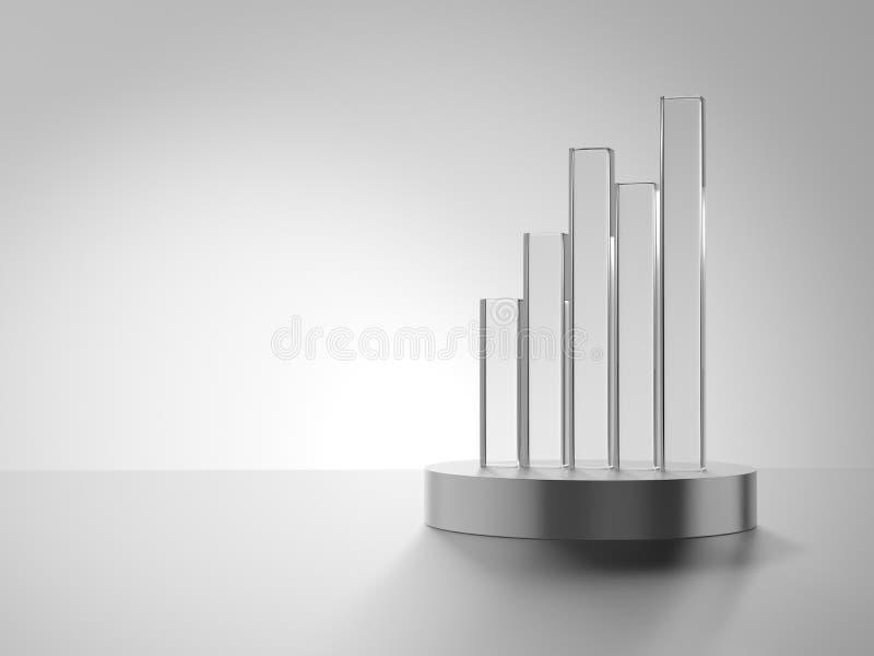 απονεμημένη Κάθετο ιστόγραμμα γυαλιού απεικόνιση αποθεμάτων