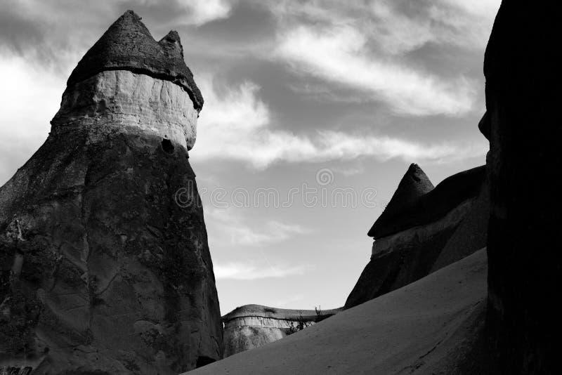 Απόψεις ενός άλλων χωρών των θαυμάτων τοπίων σε Cappadocia στοκ εικόνα
