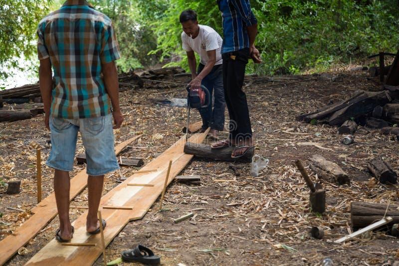 Βάρκα που στηρίζεται στο Mekong δέλτα στοκ φωτογραφία με δικαίωμα ελεύθερης χρήσης