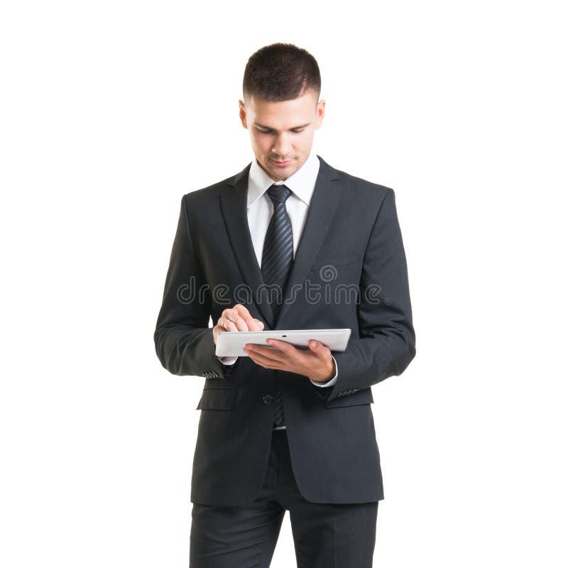 Βέβαιο άτομο σε formalwear Επιχειρηματίας στο κοστούμι που απομονώνεται στο λευκό στοκ εικόνες με δικαίωμα ελεύθερης χρήσης