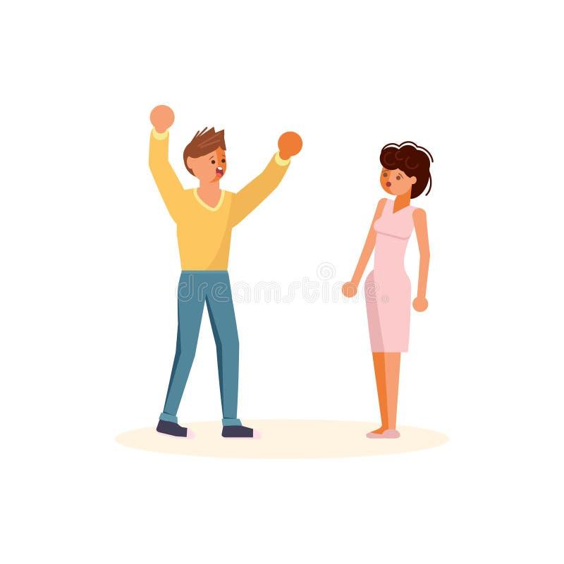 Βία στην οικογενειακή έννοια ελεύθερη απεικόνιση δικαιώματος