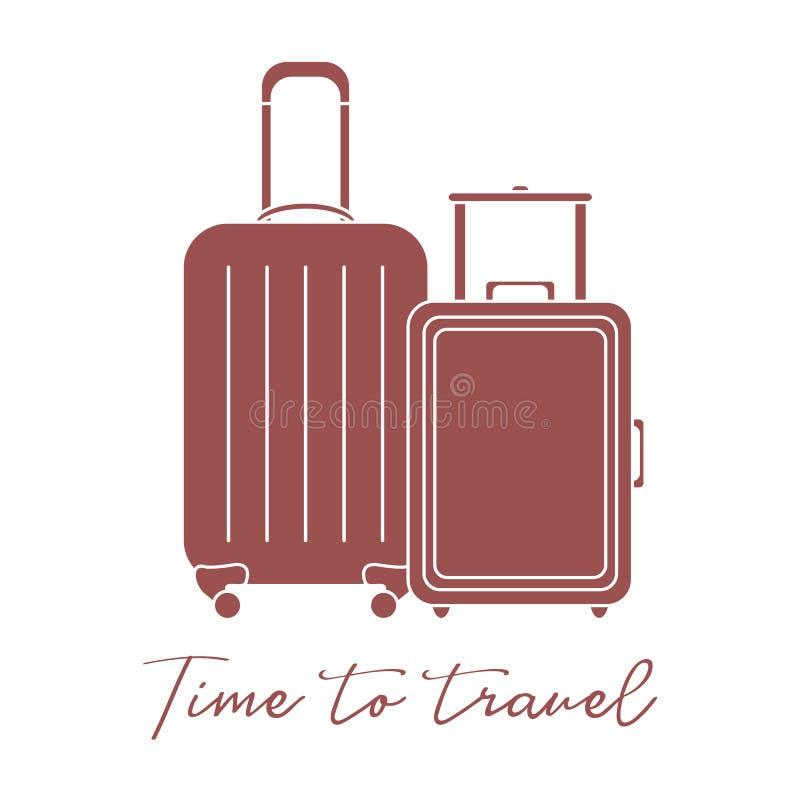 βαλίτσες δύο Θερινός χρόνος, διακοπές leisure απεικόνιση αποθεμάτων