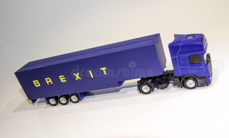 Βαρύ όχημα αγαθών Brexit στοκ εικόνα με δικαίωμα ελεύθερης χρήσης
